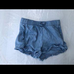 Old Navy Faux Jean Ruffle Shorts